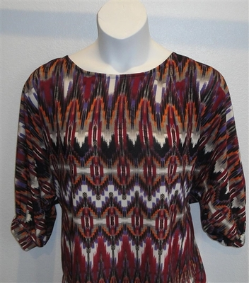 Jan Sweater - Red Geometric Sweater Knit | Sweaters