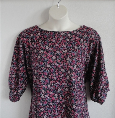 Jan Sweater - Black/Pink Petite Floral Sweater Knit | Sweaters