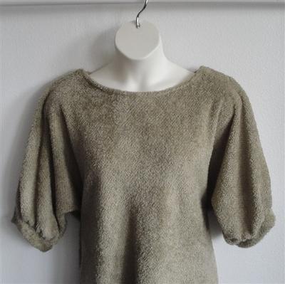 Tan Chenille Fleece Post Surgery Sweater - Jan