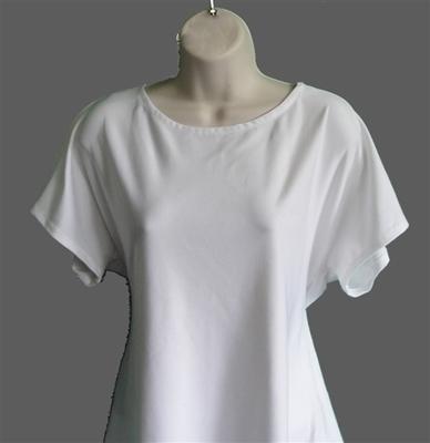 White Nylon Post Surgery Tracie Shirt