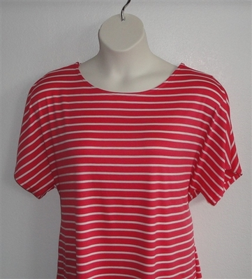 Tracie Shirt - Red Stripe Rayon Knit (XS, L, & 3X only) | Knits