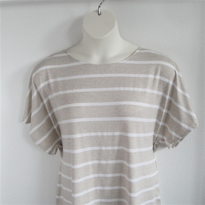 Tracie Shirt - Tan Stripe Rayon Knit | Knits