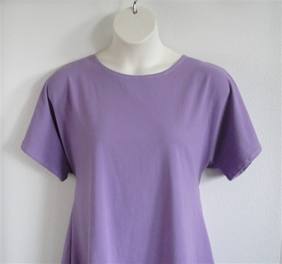 Lilac cotton post surgery clothing for shoulder, breast cancer or mastectomy surgery