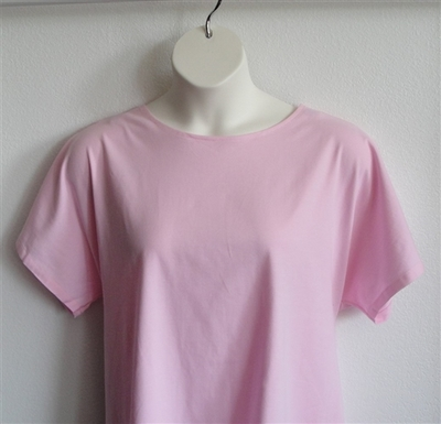 Tracie Shirt - Light Pink Cotton Knit | Knits