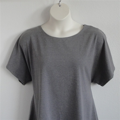 Tracie Shirt - Medium Gray Cotton Knit | Knits