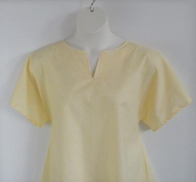 Gracie Shirt - Yellow Vine Floral | Woven Fabrics