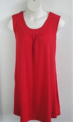 Red Cotton Knit Adaptive Nightgown - Heidi
