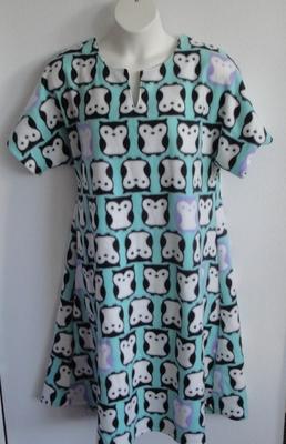 Abby FLEECE Nightgown - Aqua Owl | Fleece Gowns