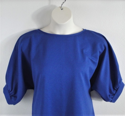 Royal Blue French Terry Post Surgery Shirt - Libby