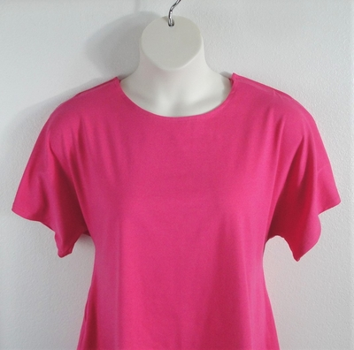 Burgundy cotton adaptive shirt for shoulder surgery, breast cancer, or mastectomy