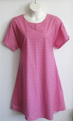 Mauve Pink Calico Post Surgery Nightgown - Erin