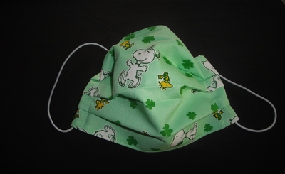 Snoopy Woodstock Green Face Mask   Face Masks