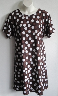 Second - Brown Dot Cotton Knit Adaptive Gown - Orgetta