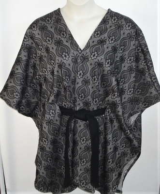 Shandra Cape - Black Brocade Rayon Blend | Outerwear/Capes