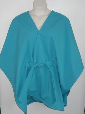 Shandra Soft Shell Fleece Cape - Aqua/Aqua | Outerwear/Capes