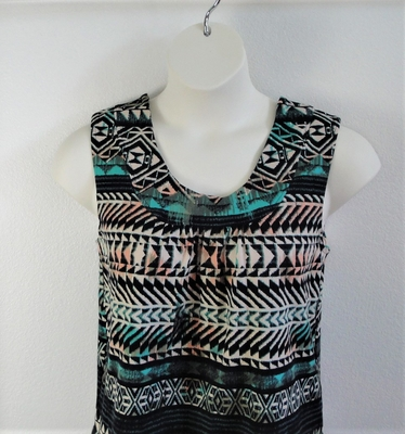 Sara Shirt - Teal Aztec Cotton Knit | Cotton / Rayon