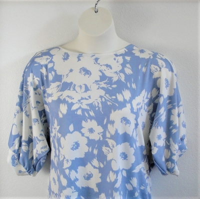 Navy Floral Butterfly Post Surgery Shirt - Libby