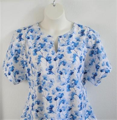 Gracie Shirt - Blue Ginko | Woven Fabrics