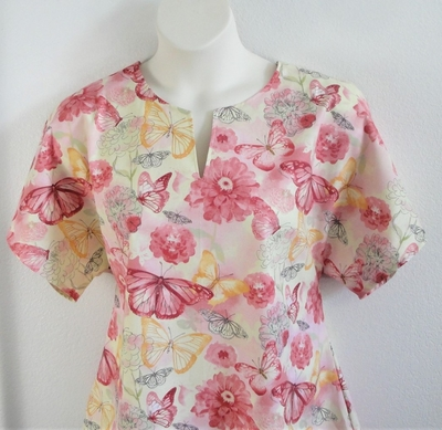 Gracie Shirt - Yellow/Peach Butterfly | Woven Fabrics
