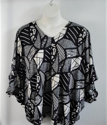 Black/Pink/Yellow Floral Adaptive Side Opening Shirt - Kiley