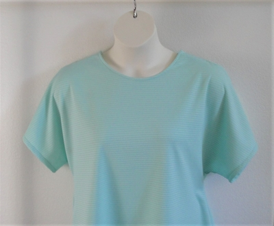 Tracie Shirt - Mint Green/White Stripe Wickaway | Short Sleeve Shirts