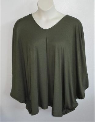 Navy Cotton Knit Side Opening Shirt - Kiley