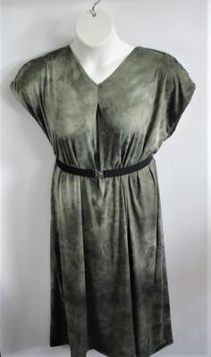 Randi Dress - Olive Tie Dye Brushed Rayon Knit | Dresses