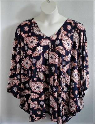 Burgundy/Gold/Brown Batik Side Opening Shirt - Kiley