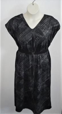 Randi Dress - Black/Gray Swish Polyester Knit | Dresses