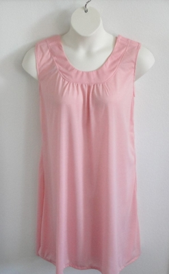 Heidi Nightgown - Light Pink Poly Knit | Sleeveless Gowns