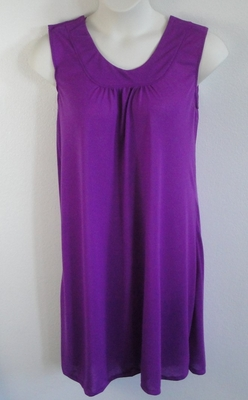 Heidi Nightgown - Purple Poly Knit | Sleeveless Gowns