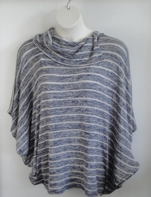 Black/White Aztec Side Opening Post Surgery Sweater - Emily