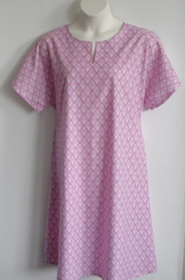 Erin Nightgown - Mauve Pink Calico | Woven Fabric Gowns