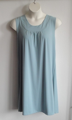 Heidi Nightgown - Dusty Blue Jersey (S & 2X only) | Sleeveless Gowns