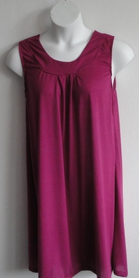 Heidi Nightgown - Fuchsia Rayon Knit | Sleeveless Gowns