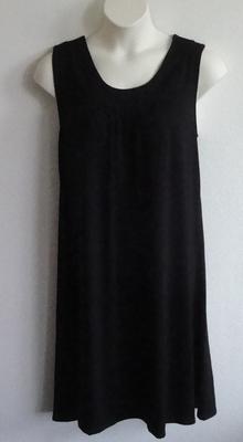 Heidi Nightgown - Black Rayon Knit   Sleeveless Gowns