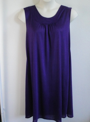 Heidi Nightgown - Amethyst Poly Knit | Sleeveless Gowns