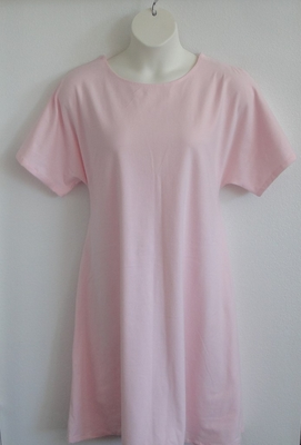 Orgetta Nightgown - Light Pink Cotton Knit (XS & L only) | Knit Gowns
