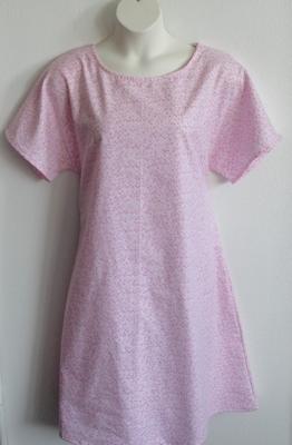 Pink Stars Flannel Nightgown - Orgetta