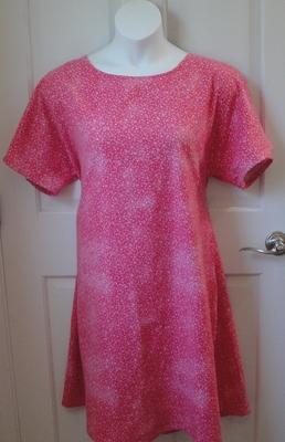 Orgetta FLANNEL Nightgown - Pink Tie Dye Wash Hearts | Flannel Gowns