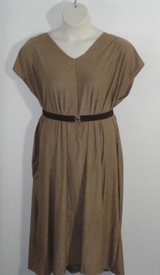 Randi Dress - Tan Micro Fiber Knit | Dresses