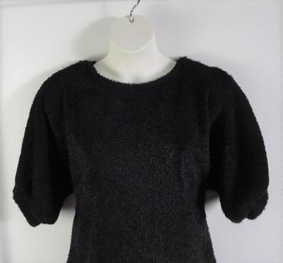 Jan Sweater - Black Chenille Fleece Sweater Knit | Sweaters