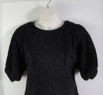 Black Chenille Fleece Post Surgery Sweater - Jan