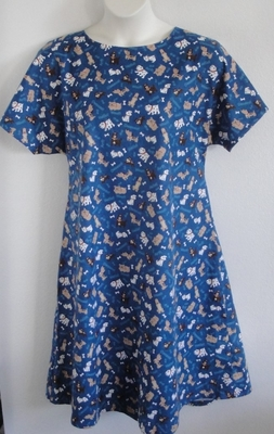 Orgetta FLANNEL Nightgown - Royal Dogs | Flannel Gowns
