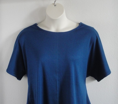 SECOND -- Tracie Shirt - Mediterranean Blue Cotton Knit | Knits
