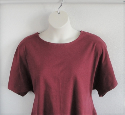 SECOND --Tracie Shirt - Raspberry Cotton Knit | Short Sleeve Shirts