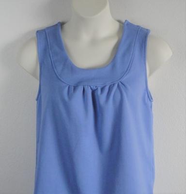 Sara Shirt - Light Blue French Terry | Cotton / Rayon