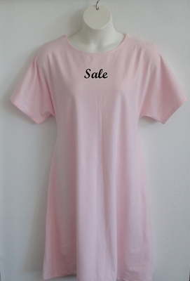 SECOND -- Orgetta Nightgown - Light Pink Cotton Knit - Size XL | Knit Gowns