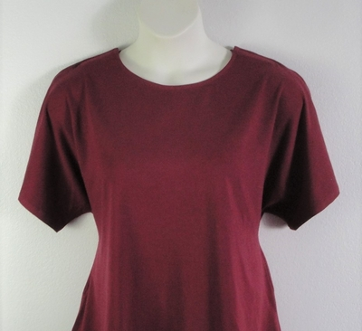 Tracie Shirt - Burgundy Cotton Knit | Knits
