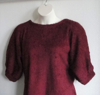 Cranberry Chenille Fleece Post Surgery Sweater - Jan